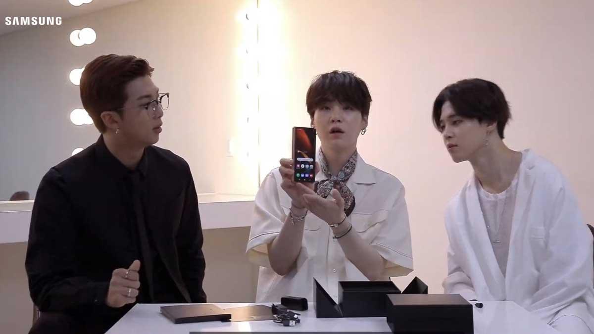 BTS boys unveils Samsung Galaxy Z Fold2 and stuns everyone in a Wedding.
