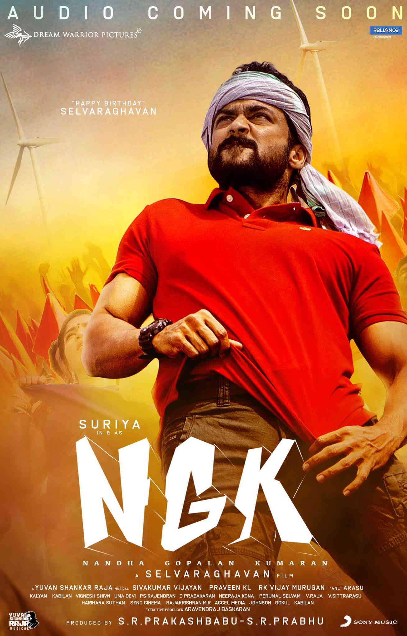 NGK New Poster Featuring Suriya with Birthday Wishes for Selvaraghavan