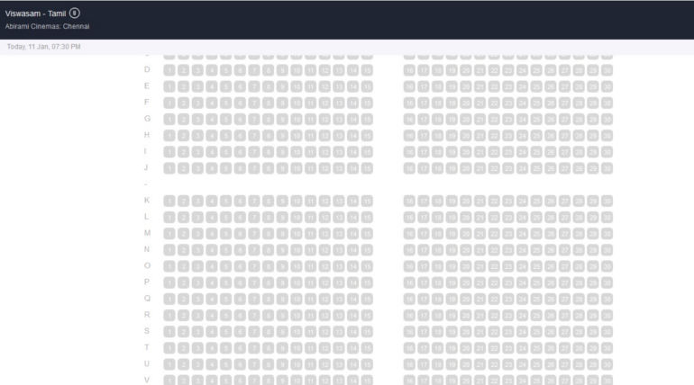Viswasam Tamilrockers Leak did not Affect the Solid Booking Running with Houseful Shows