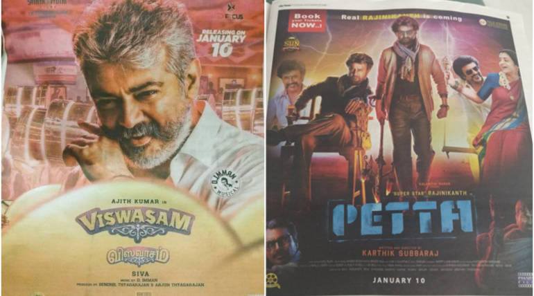 Viswasam vs Petta Same Day Clash is Official Now via Leaked Posters- Biggest BO Havoc ahead