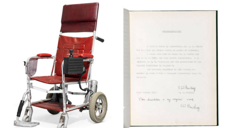 Stephen Hawking Wheelchair and Thesis Auctioned for 1 million dollars