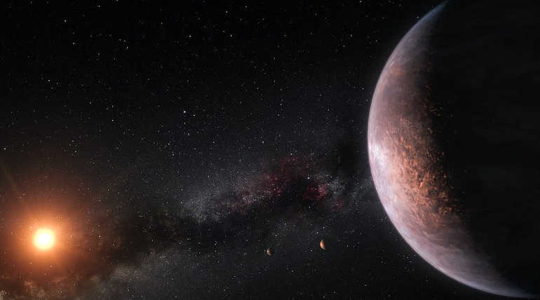 TRAPPIST 1 Is Much Likely To Hold Alien Life In Its Planets. Illustration Image
