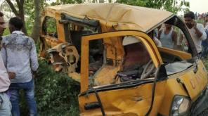 13 School Kids Died In India After train Rammed their School Van