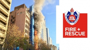 Fire In Sydney Macquarie Street High Rise Building Scaffolding Image credit: @FRNSW