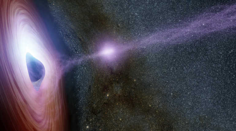 Monster That Gobbling the Sun Like Star At The Far Distance From Our Milky way. Representation Image.