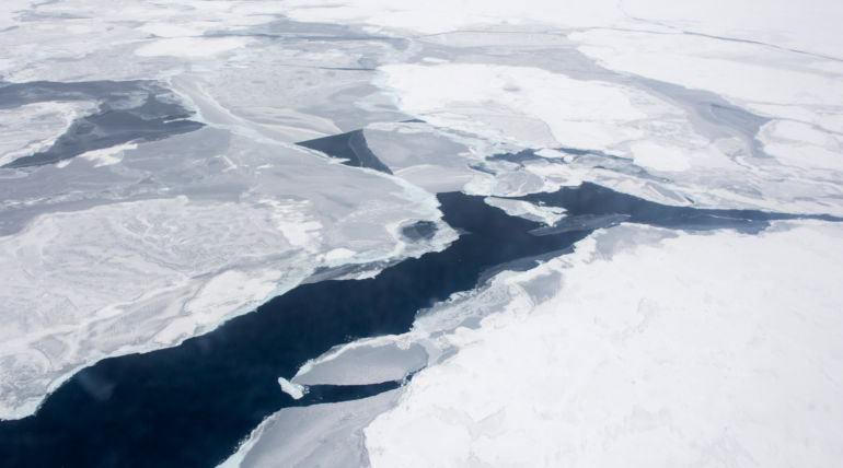 Arctic Ocean Climate Change Due To Fast Warming Of Top Ice Layer