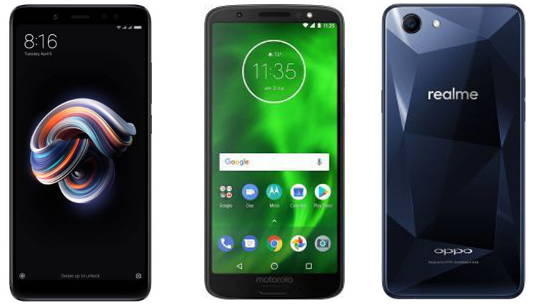 Compare Xiaomi Redmi Y2 Vs Redmi Note 5 Vs Moto G6 Play Vs Oppo RealMe1 Specs and Price
