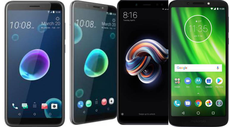 Compare HTC Desire12 Vs HTC Desire 12 Plus Vs Redmi Note 5 Vs Moto G6 Specs And Price