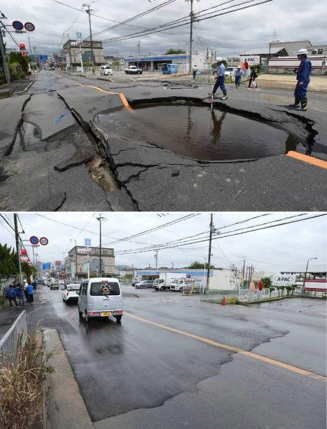 Japan Roads Repaired Within A Day Time After Osaka Earthquake Damage