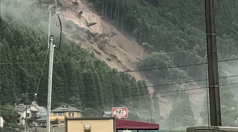 Japan Heavy Rains Flooding And Landslides Pictures in July 2018
