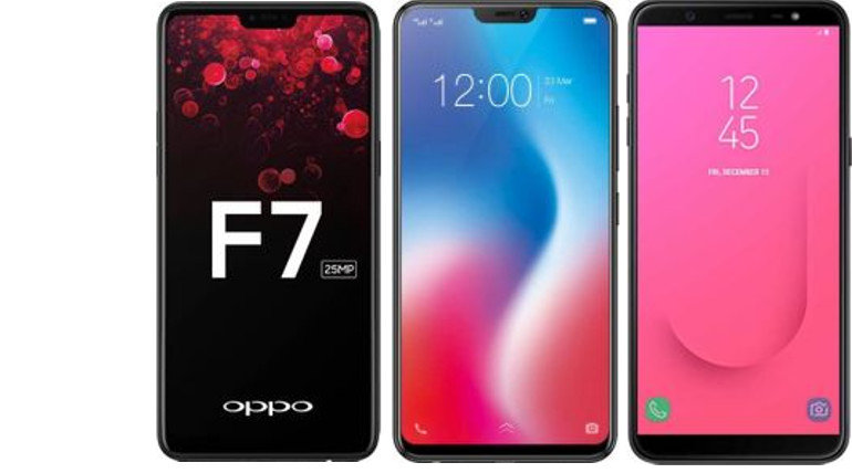 Oppo F7 Vs Samsung Galaxy J8 Vs Vivo V9 Specs And Price Compared