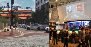 Florida Shooting: 2 Killed and 10 injured in Jacksonville video game Tournament , 1st Pic Courtesy -  Ho/Courtesy of WJXT/ FP