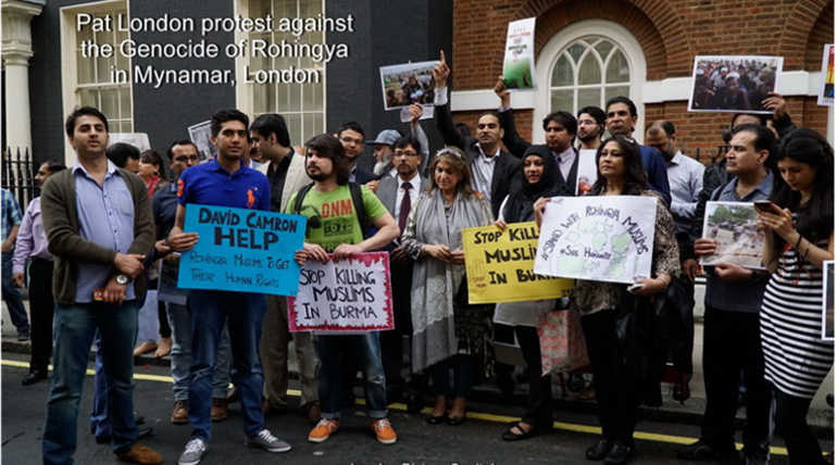 London People Protesting against Myanmar Genocide