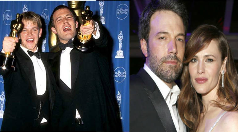 Ben Affleck drank alone in home for days before Rehab: His Rehab Story and Matt Damon's Support , Pic Source - @stevebenke Twitter , IMDB