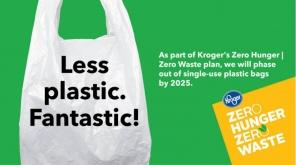 Retail Giant Kroger to demolish Single-use Plastic Bag usage by 2025 , Pic Source - @KrogerNews Twitter
