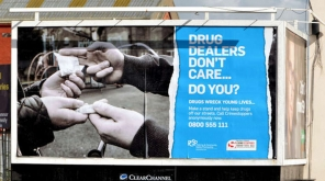 Poster against Drug Trafficking in Belfast, Northern Ireland