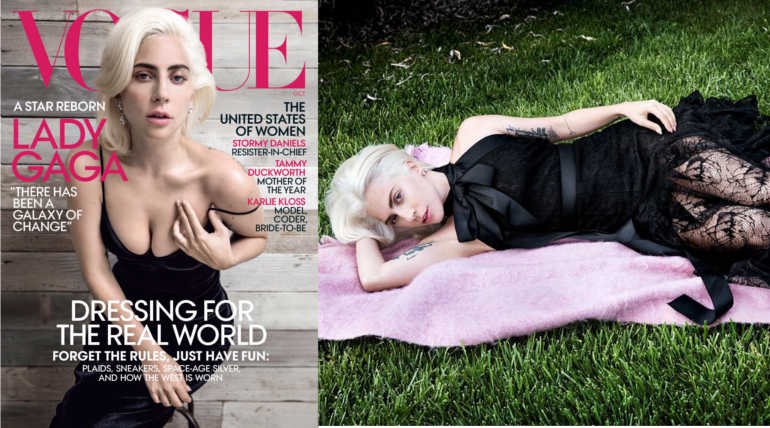 Lady Gaga Shares about her Rape Trauma and PTSD on Vogue: Featured the Magazine Cover , Pic Courtesy - Inez and Vinoodh
