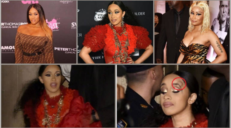 Harper's Bazaar ICONS Party Video Footage: Rah Ali involved in Cardi B-Nicki Minaj Fight , Pic Courtesy - #nickiminaj,honeygerman Instagram