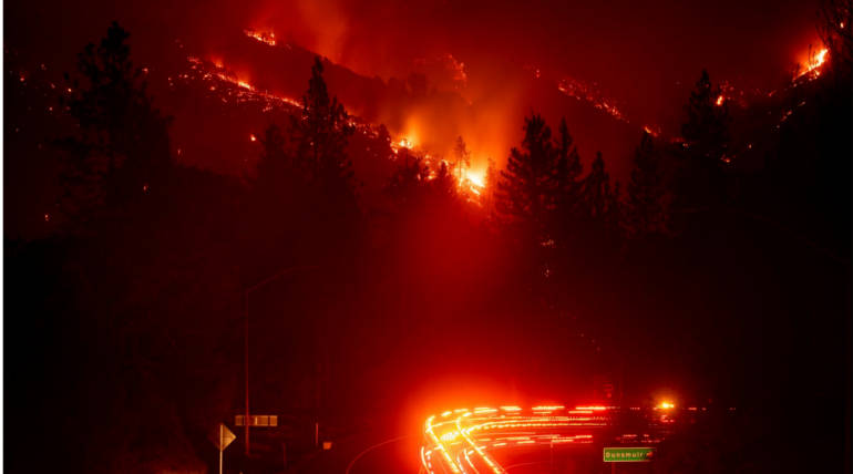 California Wildfire Continues to Blaze, Major Highway Closed: Latest Updates , Pic Courtesy - Noah Berger/AP Photo