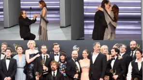 Emmy Awards 2018 Winners List; Dir Glenn Weiss proposes his Girlfriend on the Award stage , Image Source - @MSTheater @TheEmmys Twitter