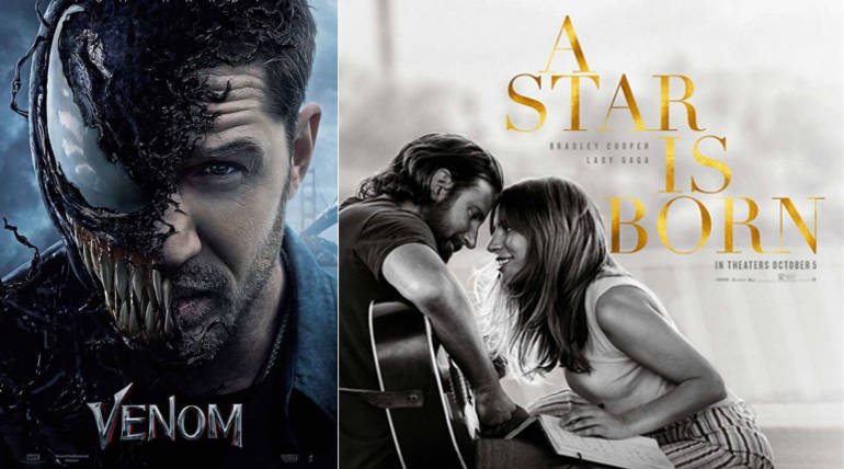 Big Box office Clash Coming up: Venom vs. A Star is Born for the U.S. Weekend