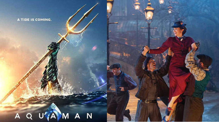 Aquaman and Mary Poppins Set to Top Christmas Box office