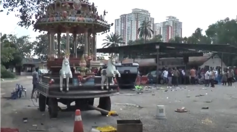 Seafield Temple Riot, Image Source - StarTV