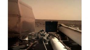 NASA InSight Mars Landing. Image Courtesy:NASAInSight Twitter