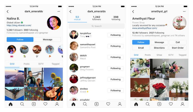 Instagram Profile design Image Credit Instagram Blog