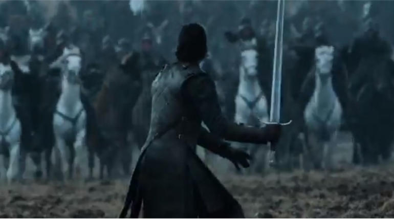 Snap from the new promo of GOT released in Twitter @GameOfThrones