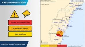 Thunderstorm Warning Image, Source - @NSWSES Twitter