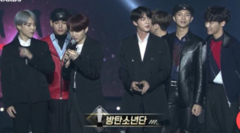 BTS at Asia Artist Awards 2018