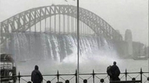 Sydney Floods blows off the City, One Dead and Two Policemen Injured , Image Credit - @thomasjameoneil Twitter