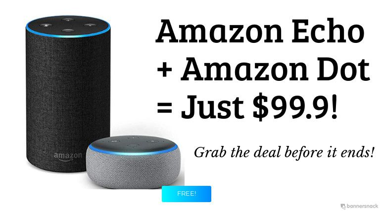 Early Black Friday Deal: Purchase Amazon Echo for $99.9 and Get a Free Echo Dot