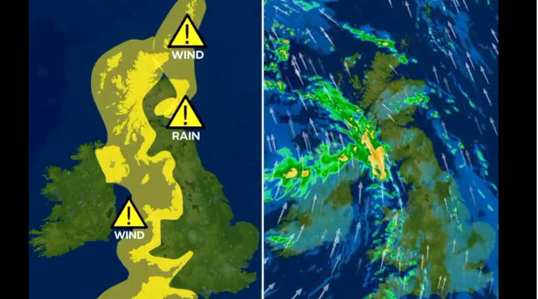 Storm Diana is UK, Image Source - @metoffice Twitter
