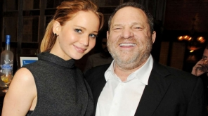 Jennifer Lawrence and Harvey Weinstein in a joint appearance. Photo: Getty Images.