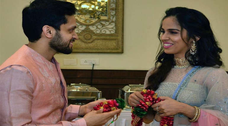 Saina Nehwal Wedding picture. Image Source: Saina Nehwal Twitter
