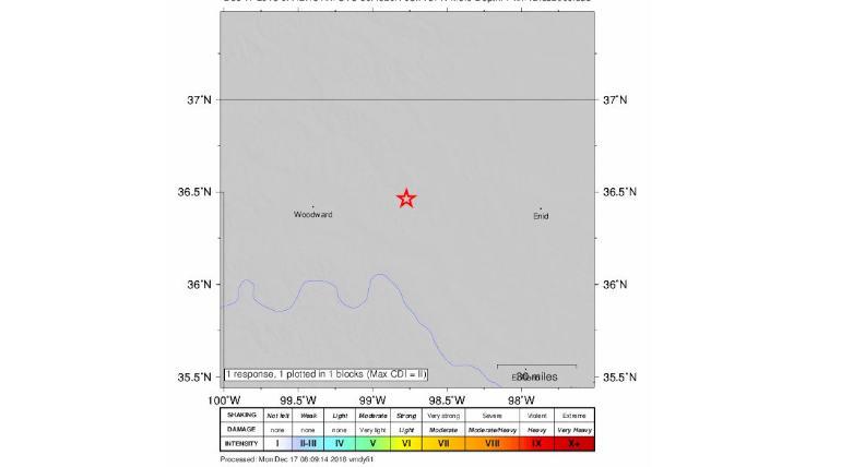 Oklahoma Earthquake Shakes the City, Image Source - @eqconsortium Twitter