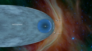 Voyager 1 crossed the heliopause or the edge of the heliosphere, in 2012. Voyager 2   crossed the heliosheath in 2018. Image Source:NASA
