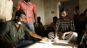 Dhanush, Vetrimaran from the Sets of Vadachennai, Asuran Movie First Look