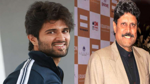 Vijay Devarakonda And Kapil Dev Depicted Image.