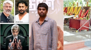 Ajith Kumar, Pink Writer Soojit Sircar, Director H.Vinoth and Thala 59 Pooja Stills
