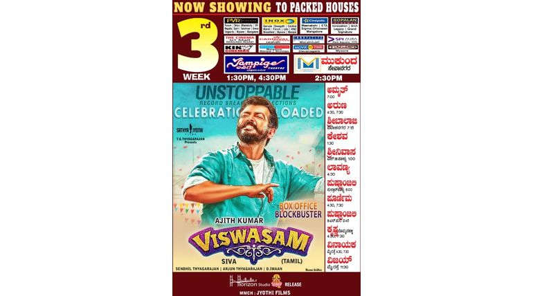 Ajith Kumar in Kannada Viswasam Poster
