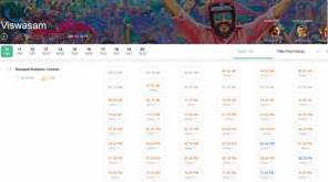 Viswasam Huge Show Count in Mayaajal Multiplex Booking , Image - BMS ScreenShot