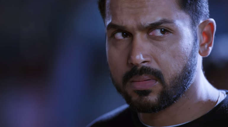 Karthi as Dev. Youtube Screenshot
