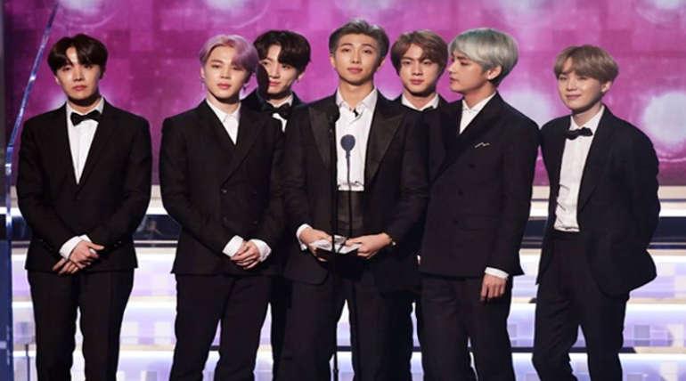 BTS crew in Grammy Award Function
