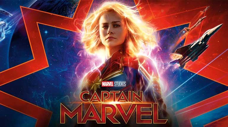 StopMoviePiracy Captian Marvel movie poster. Image Disney India