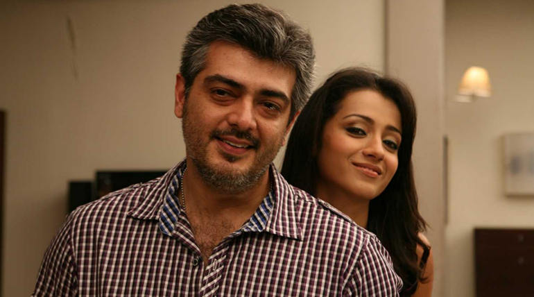 Ajith Trisha from Mankatha , Image - IMDB