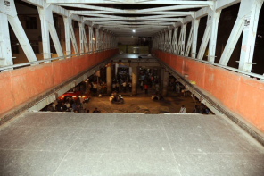 Mumbai Foot Over Bridge collapsed Near Chhatrapati Shivaji Station. Image credit @Shivaroor twitter
