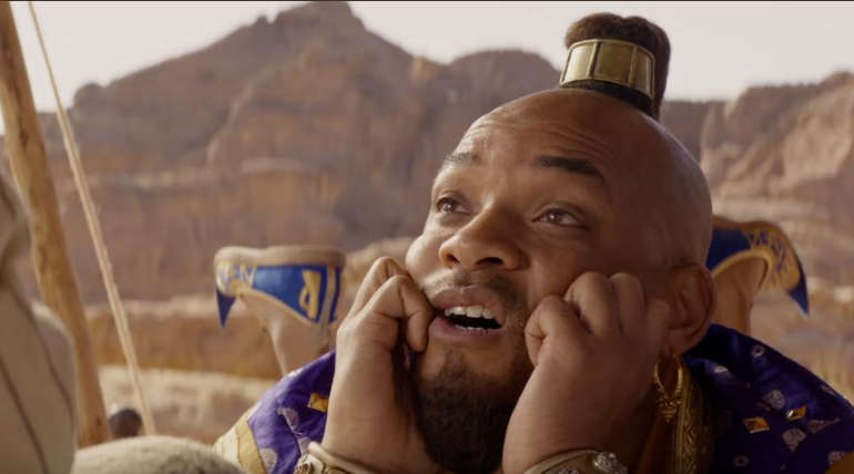 Will Smith in Aladdin Trailer. Screenshot